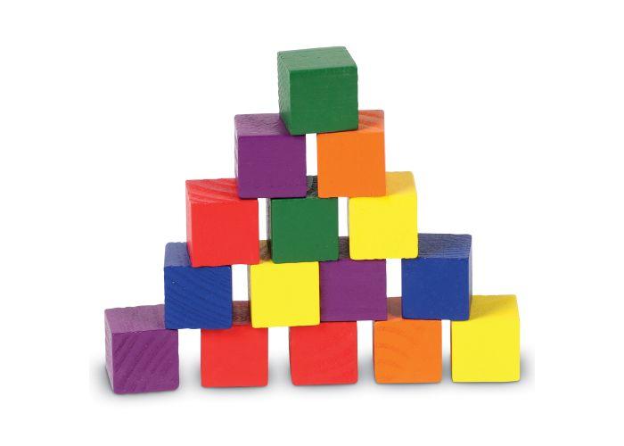 Cubos de madera en colores (juego de 102)