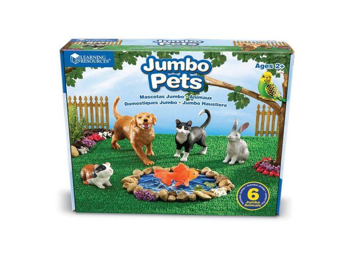 Animales domesticos Jumbo 6 piezas 20x15 cm