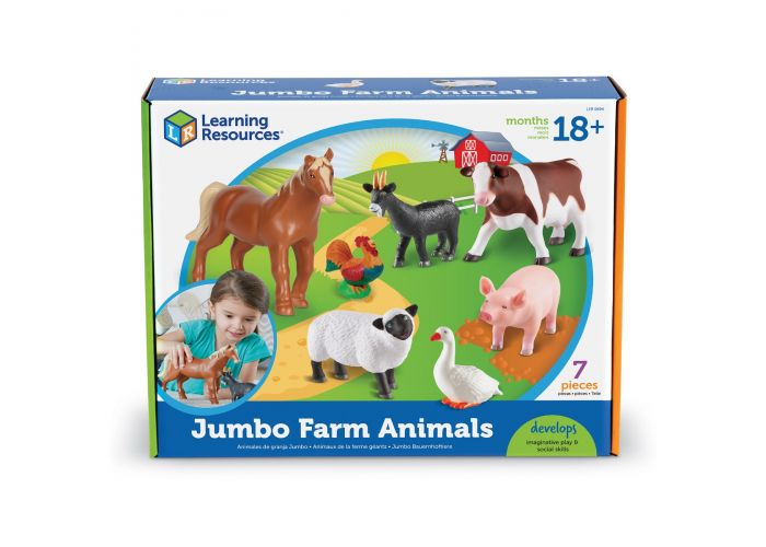 Animales granja Jumbo 7 piezas 25x19