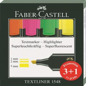 Rotulador fluor Faber-Castell 3+1 (regalo)