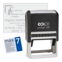 Printer 55 8 líneas personalizables 60x40 mm. Colop PR.55