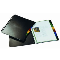 Carpeta 20 Fundas Duralook negra Durable 2435-01