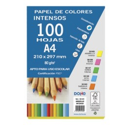 100 hojas papel amarillo intenso 80 g/m² Din A-4 Dohe 30165