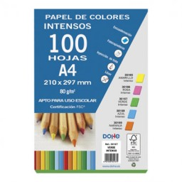 100 hojas papel verde intenso 80 g/m² Din A-4 Dohe 30167