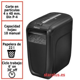 Destructora papel Fellowes 60Cs uso moderado 4606101