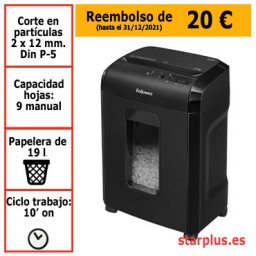 Destructora papel Fellowes 10M uso moderado 4630601