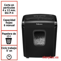 Destructora papel Fellowes 6M uso moderado 4631101