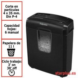 Destructora papel Fellowes 3C uso moderado 4687401