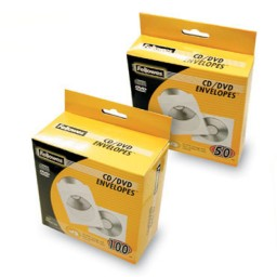 Pack 100 sobres para CD Fellowes 90691