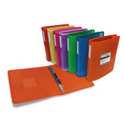Carpeta de 4 anillas de 25 mm. Multiline verde Grafoplás 30121420