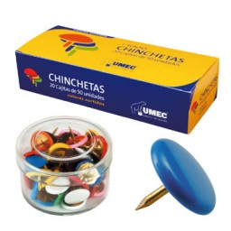 CJ50 chinchetas de colores Apli 11733