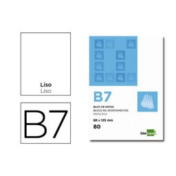 Bloc notas Din B-7 liso Liderpapel 10437