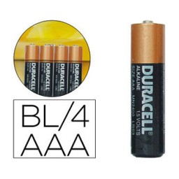 BL4 pilas alcalinas Duracell Simply LR03/AAA 21315