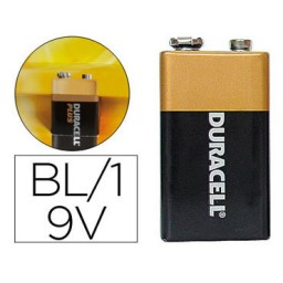 Pilas alcalina Duracell Plus Power 9V 21671
